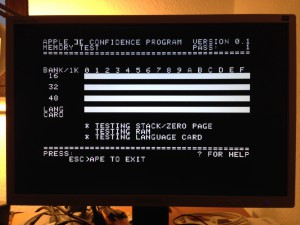 AppleII+ with language card 1